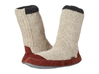 Acorn Slouch Boot Grey Ragg Wool Men's Slippers Gray