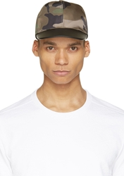 Valentino Green Camouflage Cap