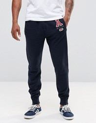 Abercrombie And Fitch Cuffed Jogger With Applique Cc200 Navy