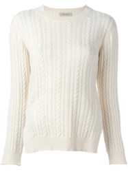 Anddaughter Cable Knit Jumper White