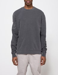 John Elliott Oversized Crewneck Pullover Washed Black