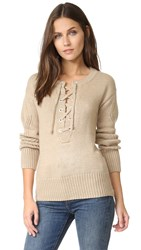 Capulet Brighton Henley Lace Up Sweater Pebble