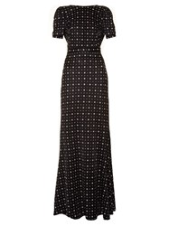 Givenchy Micro Geometric Jacquard Jersey Maxi Dress Black Multi
