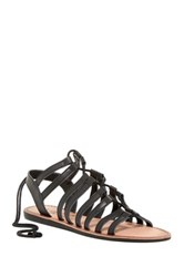 Elegant Footwear Lupita Lace Up Sandal Black
