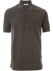 Tomas Maier Shortsleeved Polo Shirt Grey