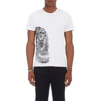 Alexander Mcqueen Men's Butterfly Skull Graphic Cotton T Shirt No Color