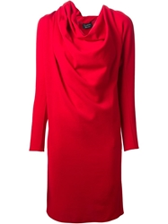 Lanvin Cowl Neck Dress Red