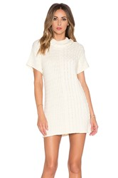 For Love And Lemons Billy Sweater Dress Cream