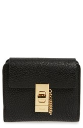 Chloe Women's 'Drew' Calfskin Leather Square Wallet Black