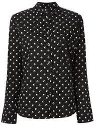 Paul Smith Ps By Dotted Print Shirt Black