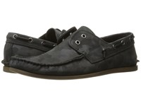 John Varvatos Schooner Boat Dark Charcoal Men's Slip On Shoes Gray