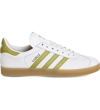 Adidas Gazelle Leather Trainers Vintage White Gold