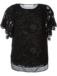 See By Chloa Guipure Lace Blouse Black