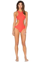 Mikoh Osaka Cutout Racerback Swimsuit Orange