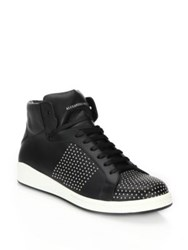 Alexander Mcqueen Studded Leather High Top Sneakers