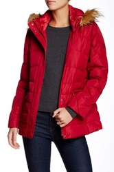 Larry Levine Faux Fur Trim Puffer Jacket