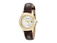 Citizen Fe1082 05A Ladies Straps Gold Tone Stainless Steel Watches