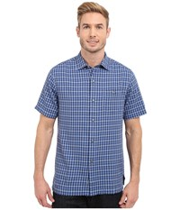 Tommy Bahama G'day Gingham Short Sleeve Bright Cobalt Men's Clothing Blue