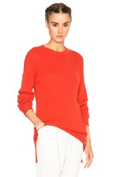 Baja East Cashmere Waffle Sweater In Red