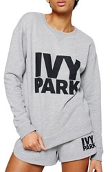 Women's Ivy Park Logo Crewneck Sweatshirt Light Grey Marl