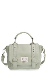 Sole Society 'Mini' Faux Leather Messenger Bag Green Mint