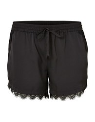 Junarose Plus Jinna Lace Boxy Shorts Black