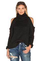 J.O.A. Open Shoulder Sweater Black