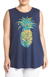 Plus Size Women's Lucky Brand Pineapple Graphic Tank
