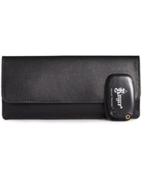 Royce Leather Italian Saffiano Freedom Wallet With Gps Tracking Technology Black
