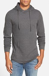 Men's The Rail Waffle Knit Hoodie Charcoal Heather