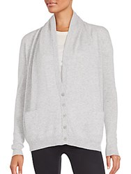 Inhabit Solid Cashmere Long Sleeve Cardigan Sterling