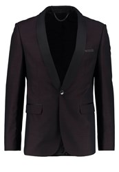 Burton Menswear London Suit Jacket Red