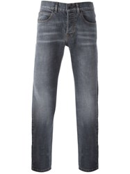 Eleventy Stonewashed Slim Fit Jeans Grey