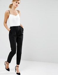 Ted Baker Cahron Strappy Jumpsuit In Mono 99 White Multi