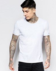 Sisley T Shirt With Raw Edges White