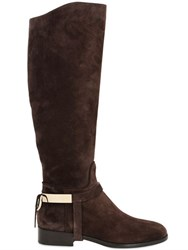 Trussardi 20Mm Crust Leather Riding Boots
