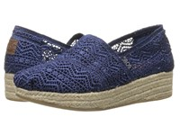 Bobs From Skechers Highlights Amaze Navy Women's Slip On Shoes