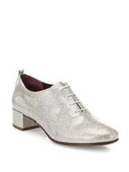 Marc Jacobs Betty Glitter Lace Up Oxfords Diamond