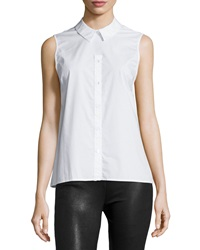 Opening Ceremony Eva Sleeveless Button Front Top White