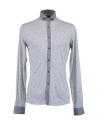 Verri Long Sleeve Shirts Light Grey
