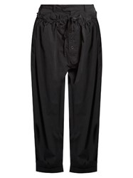 Craig Green Wide Leg Cotton Blend Poplin Trousers Black