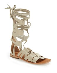 Free People Mesa Verde Suede Gladiator Sandals Bone