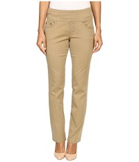 Jag Jeans Petite Peri Pull On Straight Twill Pants Toffee Women's Casual Pants Brown