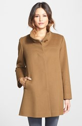 Fleurette Women's Wool Stand Collar Car Coat Vicuna