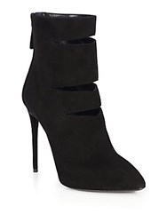 Giuseppe Zanotti Slashed Cut Out Suede Booties Nero
