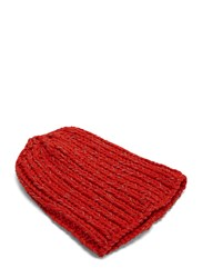 Von Sono Reflective Knit Beanie Hat Red
