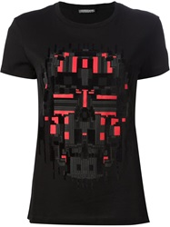 Alexander Mcqueen Pixelated Skull Print T Shirt Black