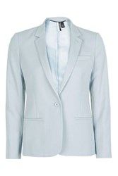 Topshop Tall Tailored Suit Jacket Slate