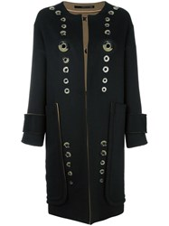 Maurizio Pecoraro Single Breasted Coat Black