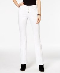 Inc International Concepts Curvy White Wash Bootcut Jeans Only At Macy's White Denim